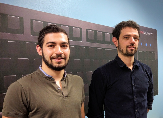 Ahmed & Thibaut - our French interns armed & ready to program