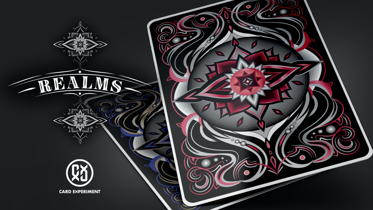 A fully customized deck portrays a visual allegory of Samsara, the beginning-less cycle of rebirth. Printed by Expert Playing Card Co. and USPCC