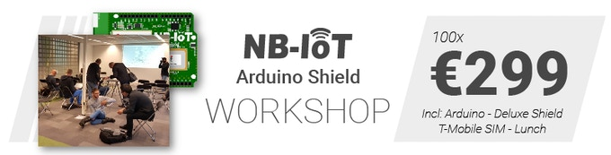The first NB-IoT shield for Arduino: supported by T-Mobile