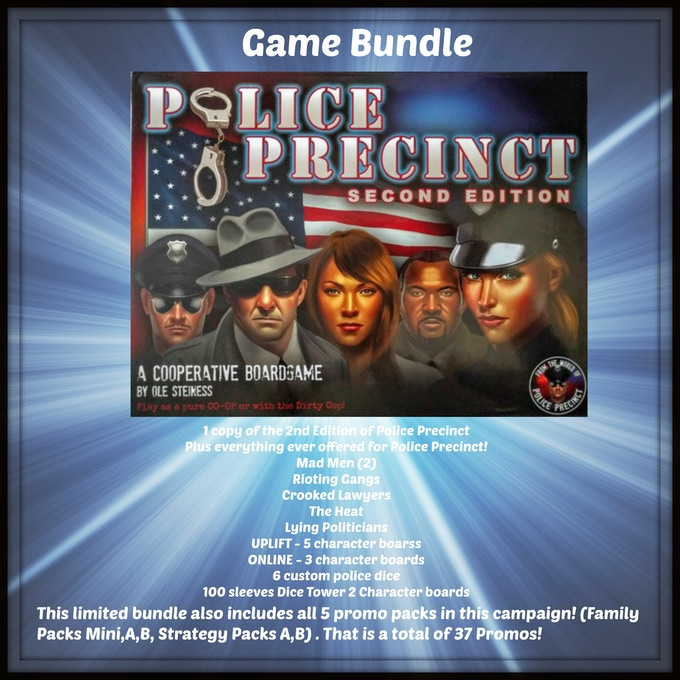 Everything ever offered for Police Precinct as shown in the image above, plus every promo in the entire campaign (37)!