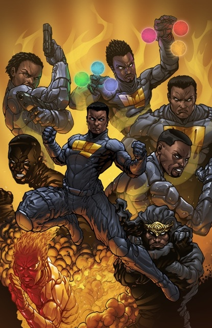 Cover to THE EIGHT #1, by Abdul H. Rashid, colors by Alexander Cutri.