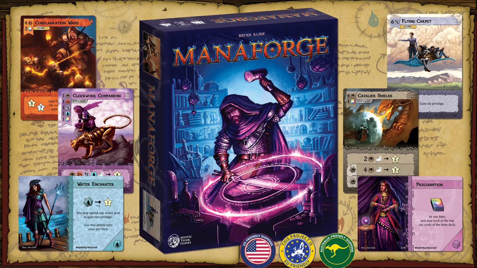 Where do magic items come from? Find out in this dice-rolling, resource management, game of crafting magical equipment.