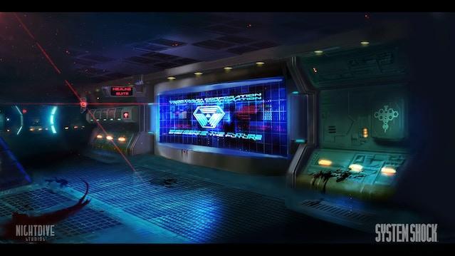 Concept art of Citadel Station Medical Deck entrance.