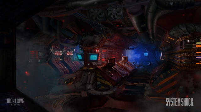 Concept art of Citadel Station's eerie vent system.