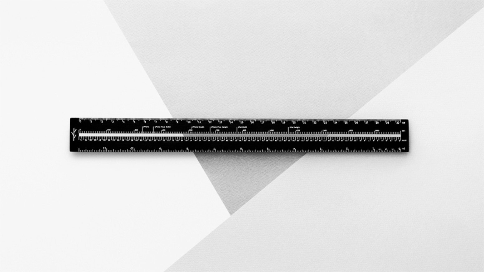 A ruler for the modern world created to bridge the gap between physical and digital.