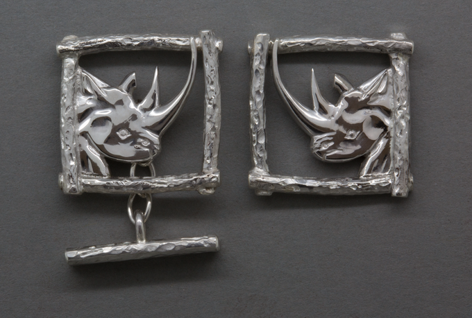Karanja cufflinks, donated by jeweller Graham Nuthall