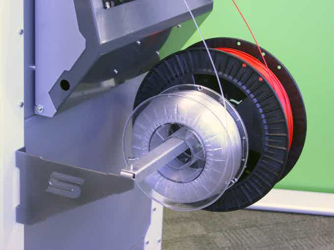 Our Universal Filament Rail work with any spooled filament, even large 2.2kg spools.