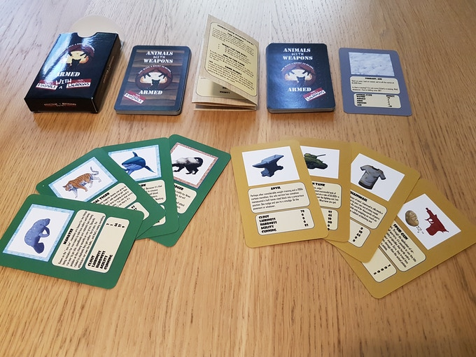 First production prototype. Final release will be in a double-box with the full 132 cards. Final designs will also be further developed in line with backer feedback.