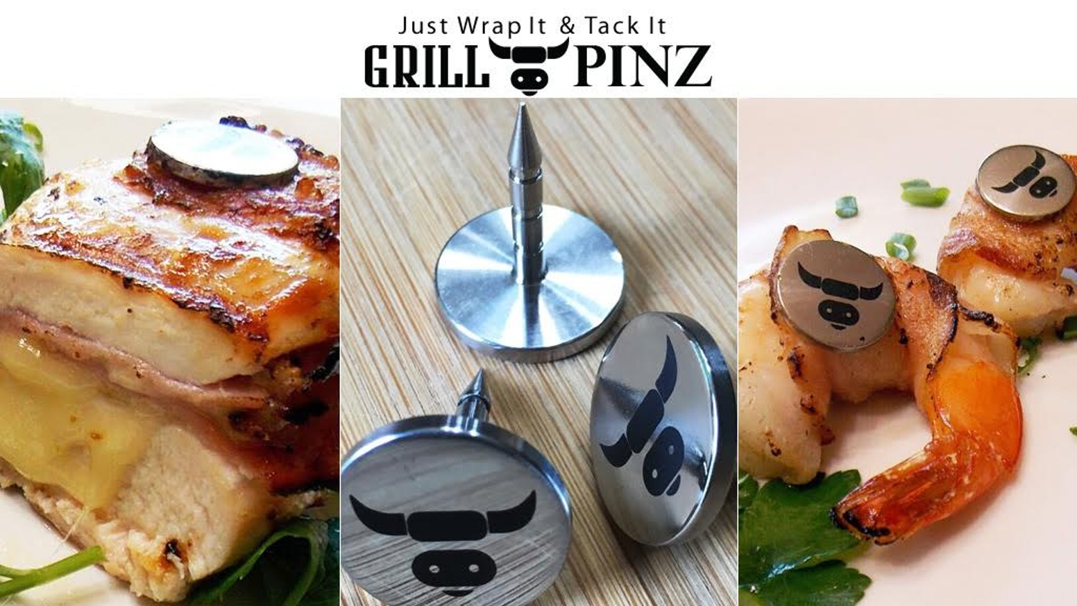 "Grill Pinz has been successfully funded! Now on to manufacturing and delivery of over 700 sets of Grill Pinz to our backers. For more info click the ""Follow along""  below to visit our website. We will offer pre-sale pricing thru the first part of July!"