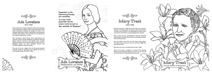 The Historical Heroines Coloring Book: Women in Science by