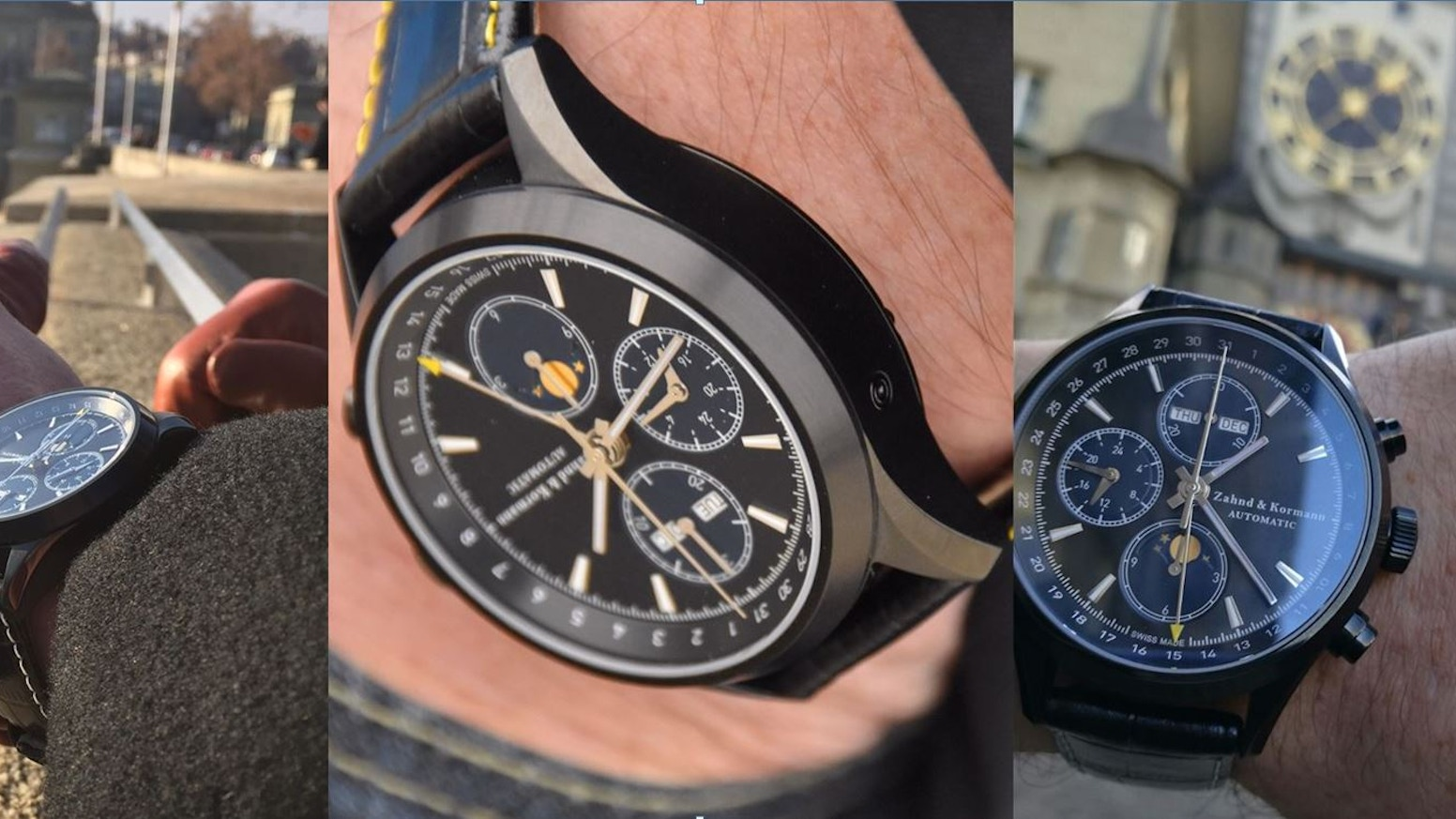 High quality Swiss Made automatic watches (ETA Valjoux 7751) - BEST VALUE OFFER - Making REAL quality affordable - Time is YOURS!