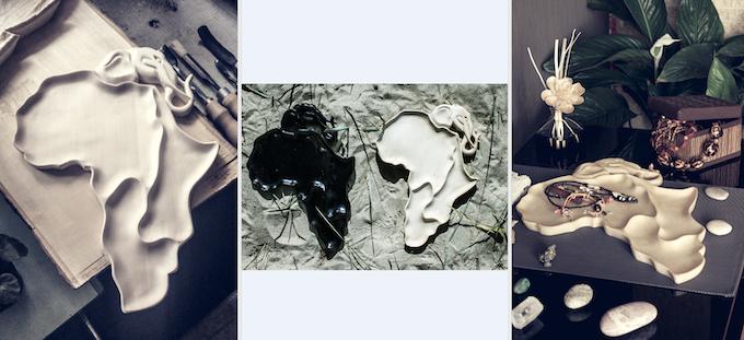 Africa shape plate