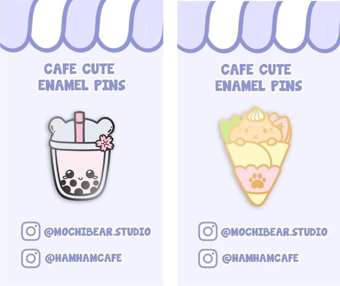 Cafe Cute Enamel Pins by Mochi Bear Studio — Kickstarter