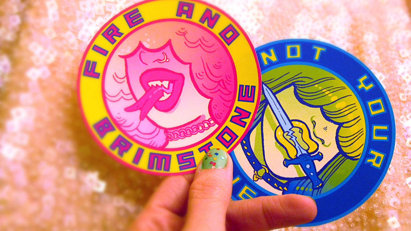 "She's the kiss with a fist you kinda want to be.  These 3.5"" embroidered patches are in your face, unapologetic feminist propaganda."