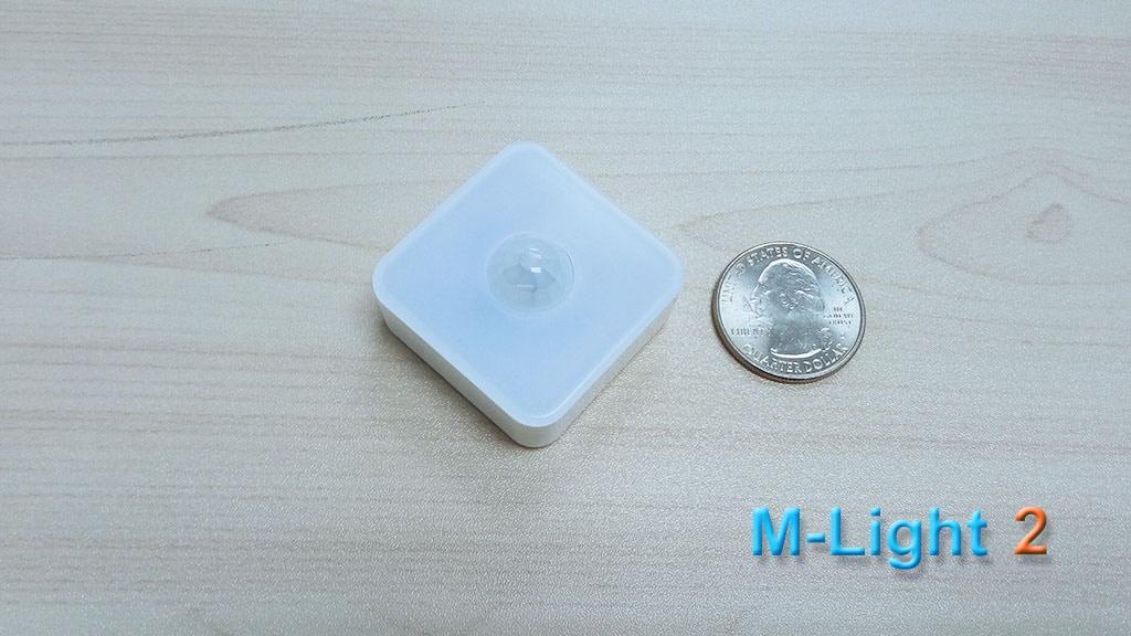 M-Light 2: The smallest adjustable motion sensor night light project video thumbnail