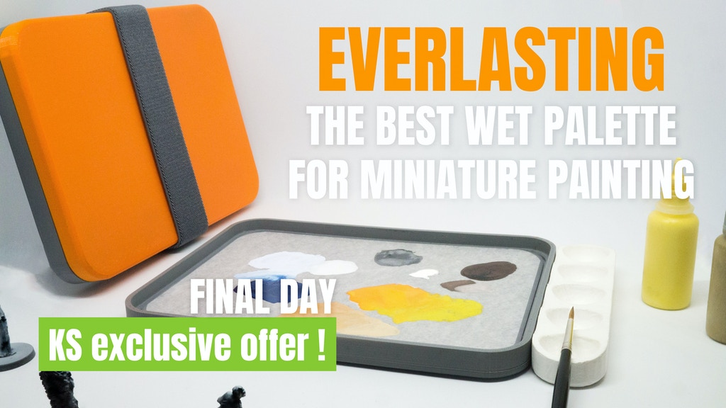 Everlasting: the Best Wet Palette for miniature painting project video thumbnail