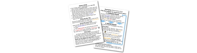 Click on the cards to download a PDF copy of the Rules Card