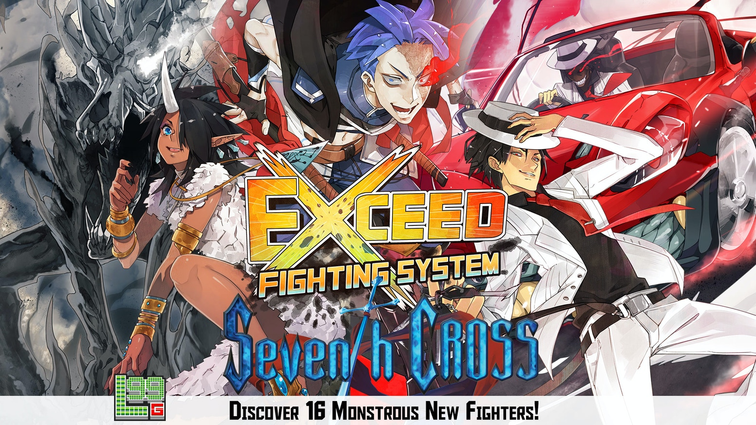 EXCEED brings the action and energy of arcade-style fighting to your tabletop in a fast-paced 15-minute, 2-player card game!