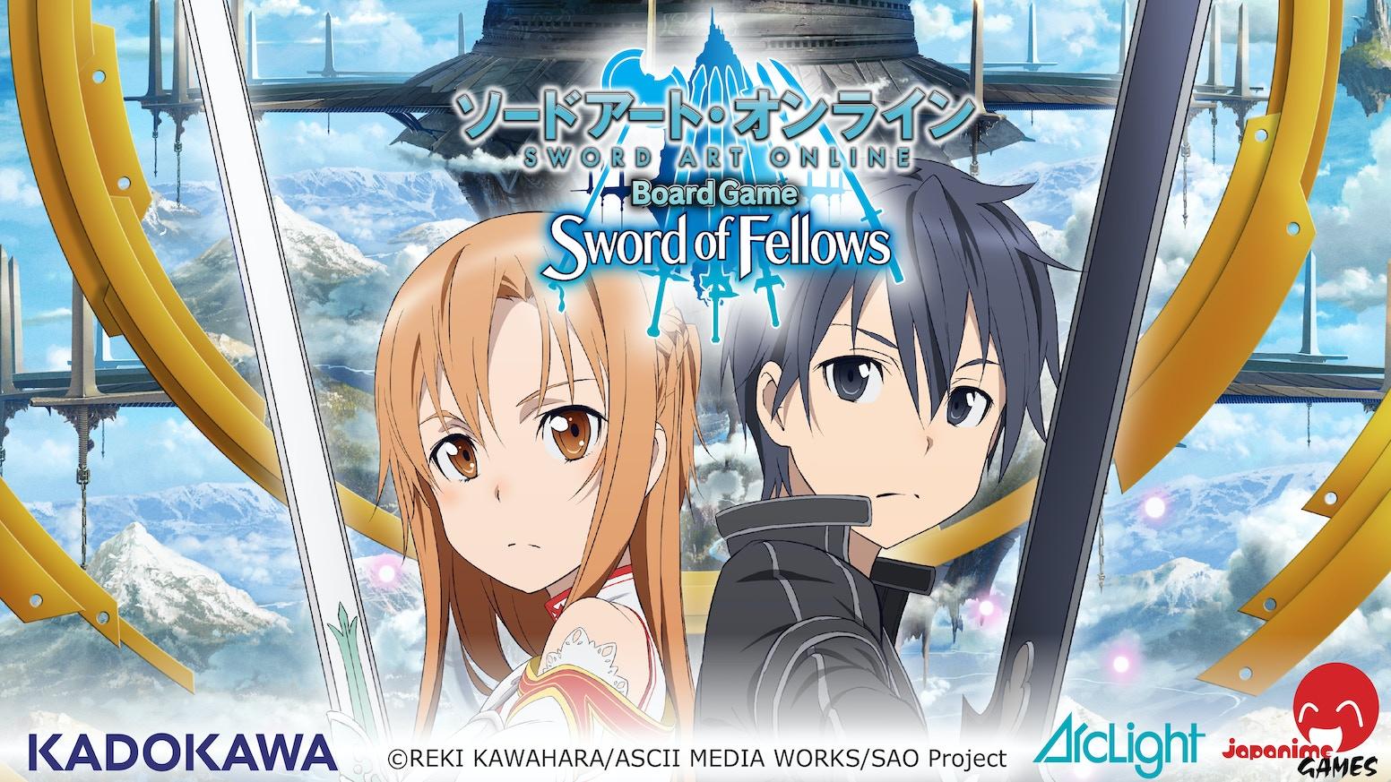 sword art online board game sword of fellows by japanime games kickstarter. Black Bedroom Furniture Sets. Home Design Ideas