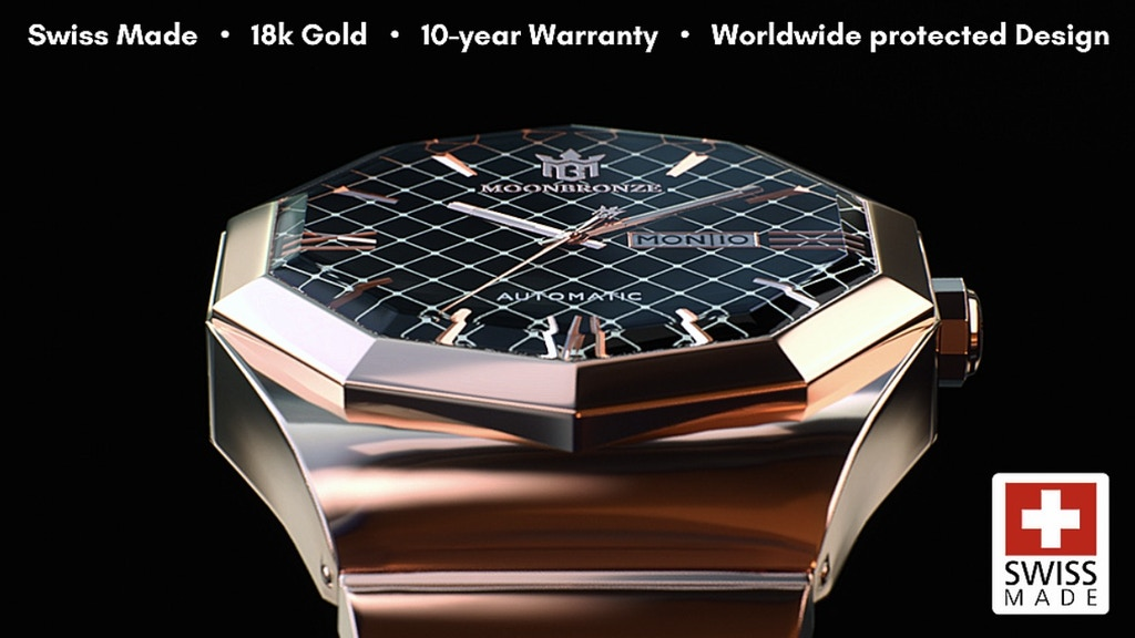 Moonbronze Watches | World's first luxury decagon watch! project video thumbnail