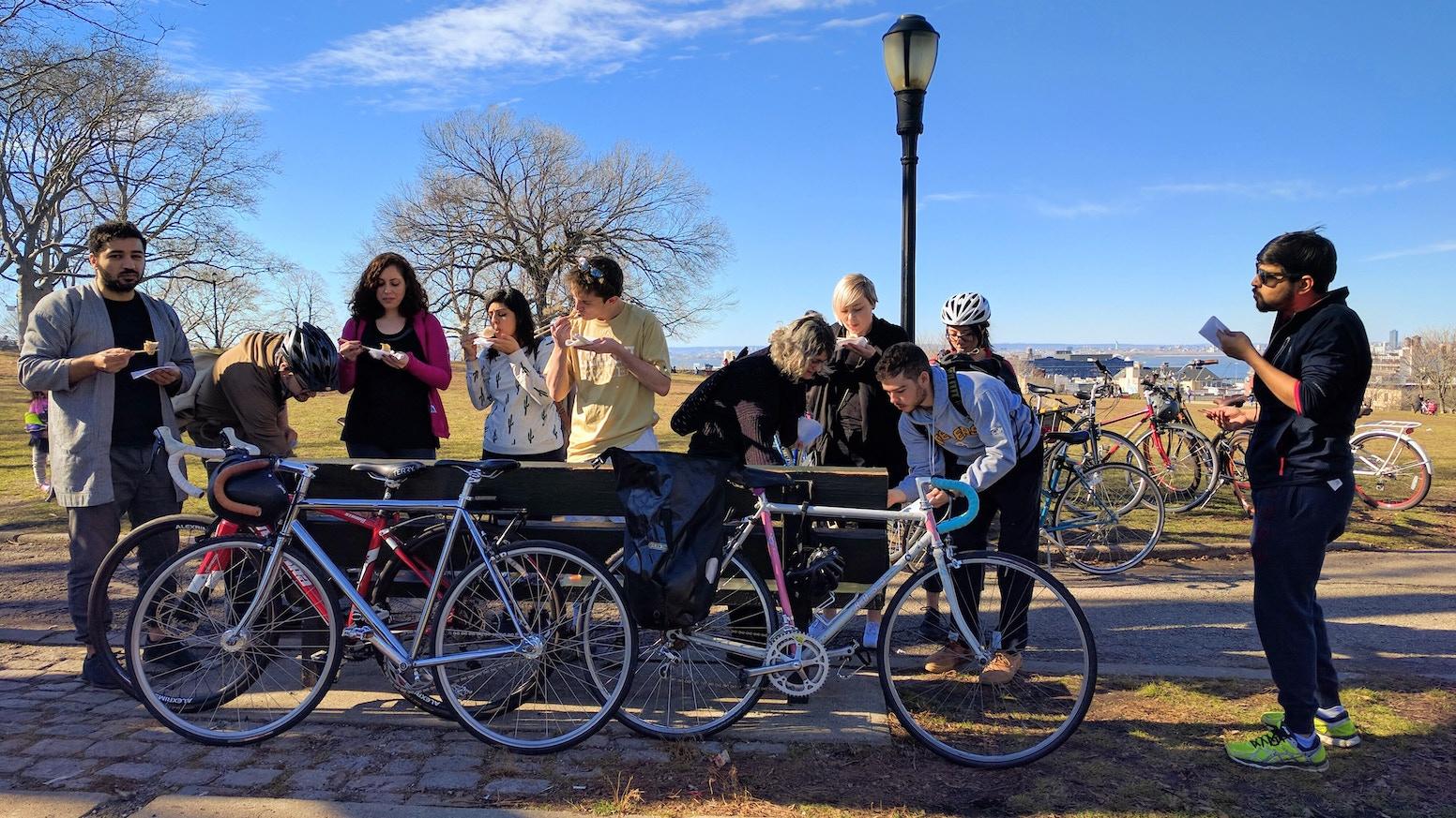 Celebrating biking, diversity, and local businesses.