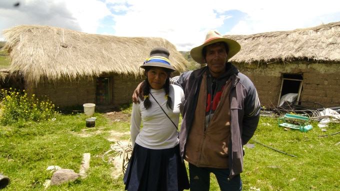 Victoriano and Ruth Laurita on the farm