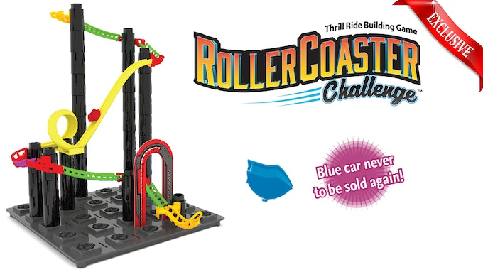 Roller Coaster Challenge with Exclusive Blue Car
