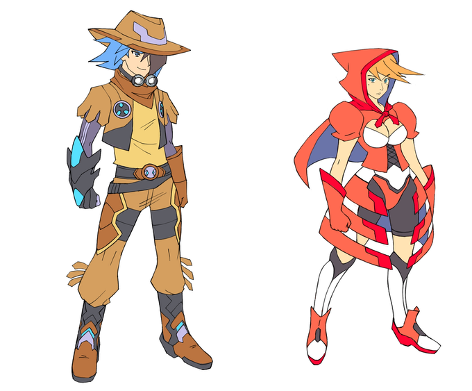 Exclusive Backer Costumes (Cowboy Ratio & Red Riding Hood Paradox)