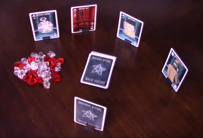 Sample card stand as shown in the video by Kwaranteen