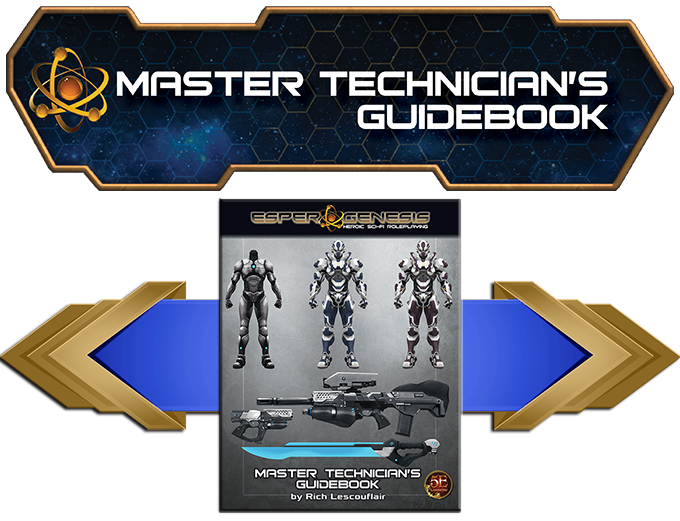 The Master Technician's Guidebook provides tools to help both players and GM's shape their campaign.
