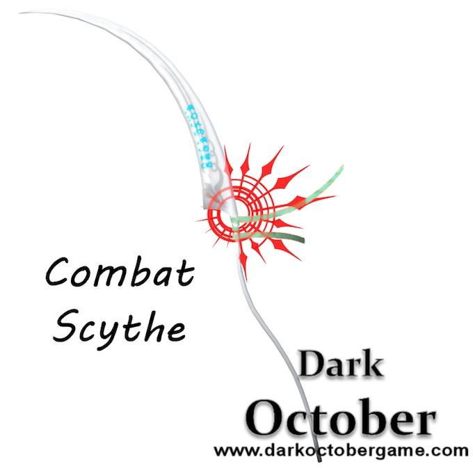 Additional weapon for Dark October, the scythe.