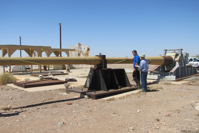 Measuring the Candidate 8 Inch by 53 Foot Gun Tube