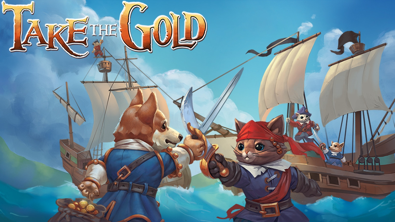 Take the Gold is a lightweight 2-6+ player fast-paced all-ages draw-and-play card game that plays in about 5-10 minutes.