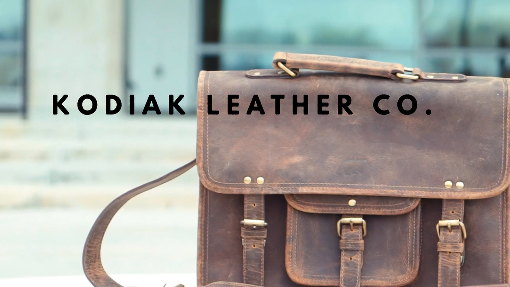 Kodiak Leather - Buffalo Leather Satchel project video thumbnail