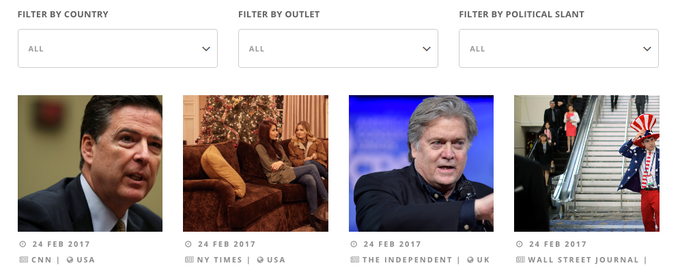 Filter News By Country, Outlet Or Political Slant
