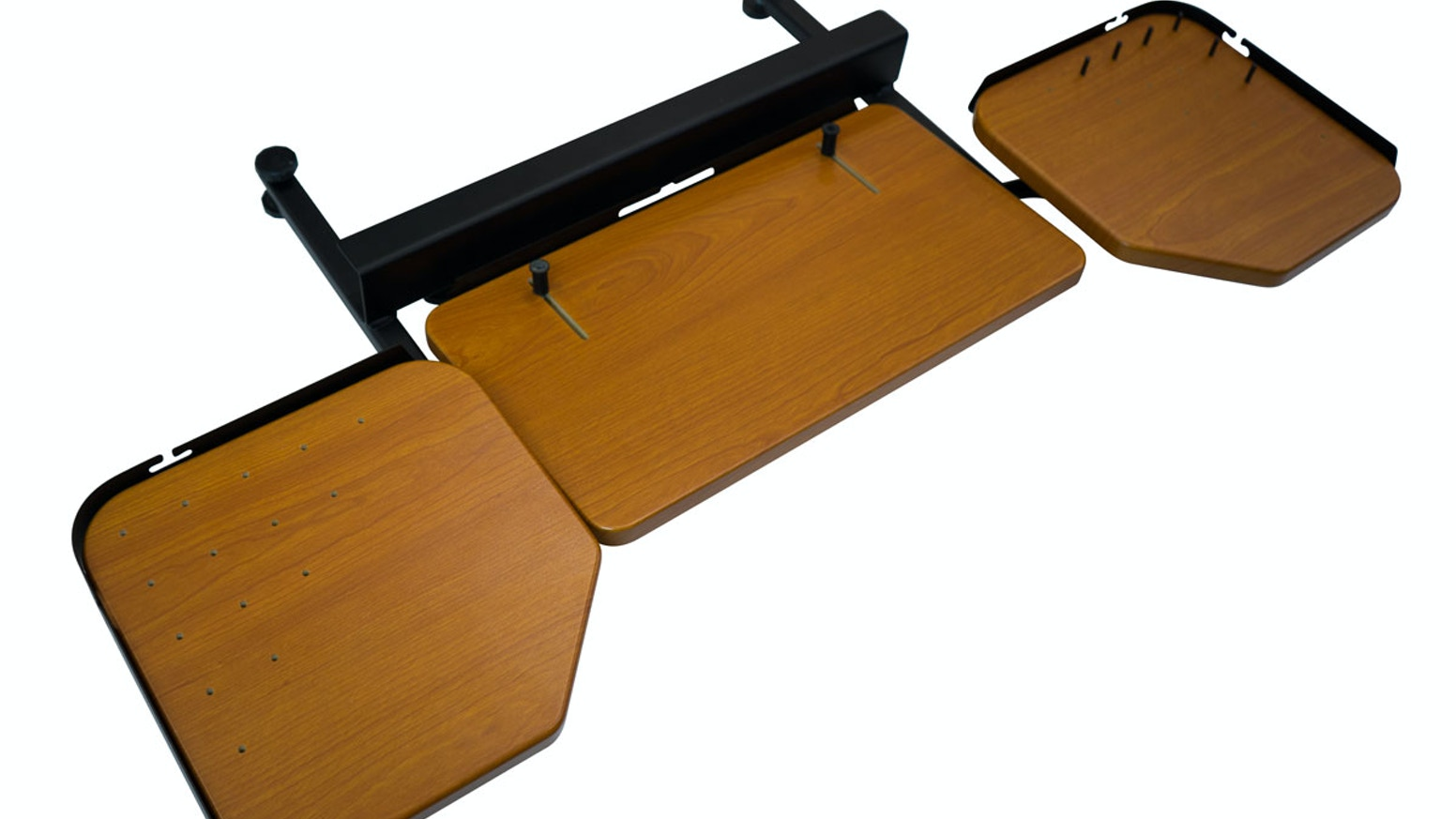Finally, an ergonomic keyboard tray that works with any standing desk! Infinite ergonomic adjustability. Installs in only 30 seconds.