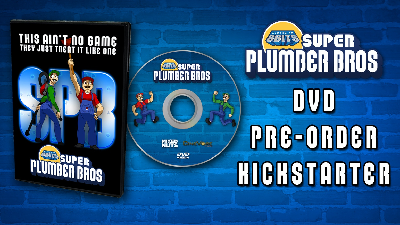 Living in 8 Bits: Super Plumber Bros is a sketch comedy web series based on the lovable world of retro video games. Pre-order the DVD!