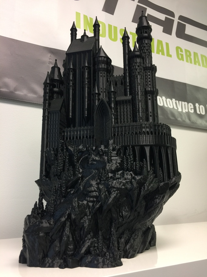 We stretched this castle in the Z direction and printed in nGen black to give it an incredible look.
