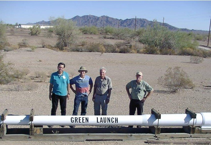 Green Launch Members With the Seven Inch by 55 Foot Long Barrel