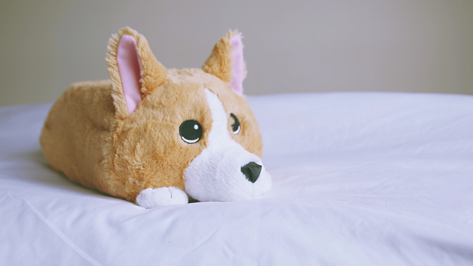 Waffles is the most adorable Corgi plush and is stuffed with Memory Foam. Take him on your next trip or cuddle with him at home.