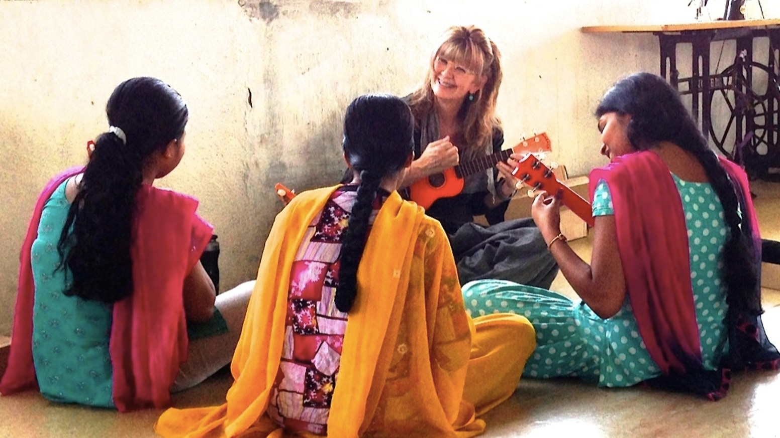 survivor girls in a shelter home in india have learned how to play ukulele -- and now we're making a cd!