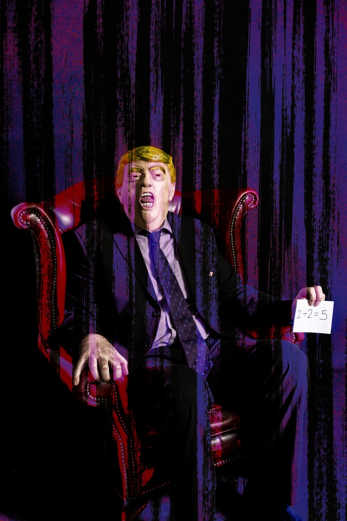 """Screaming Trump"" - Based on Francis Bacon's 1953 Study"