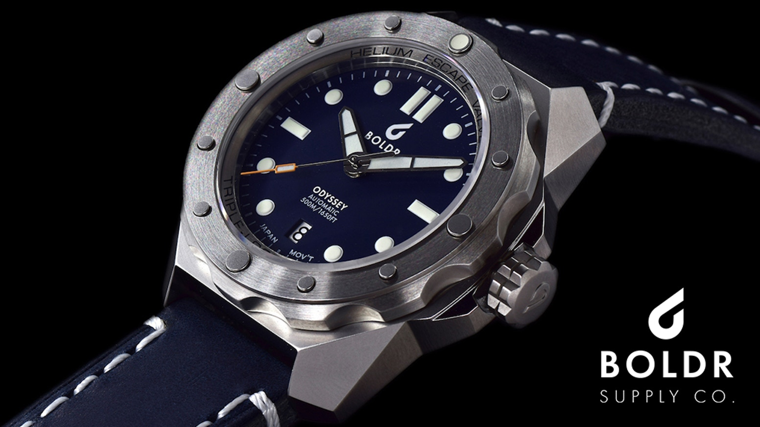 Boldr odyssey automatic watch dive into the next journey by boldr watches kickstarter for Dive watch