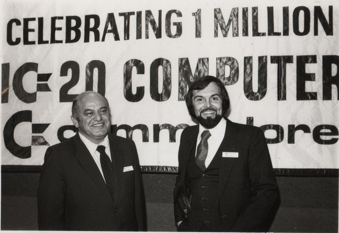 Commodore founder Jack Tramiel and Michael Tomczyk
