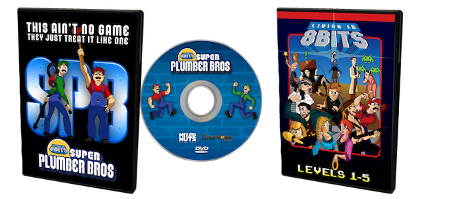 Super Plumber Bros and Living in 8 Bits DVD