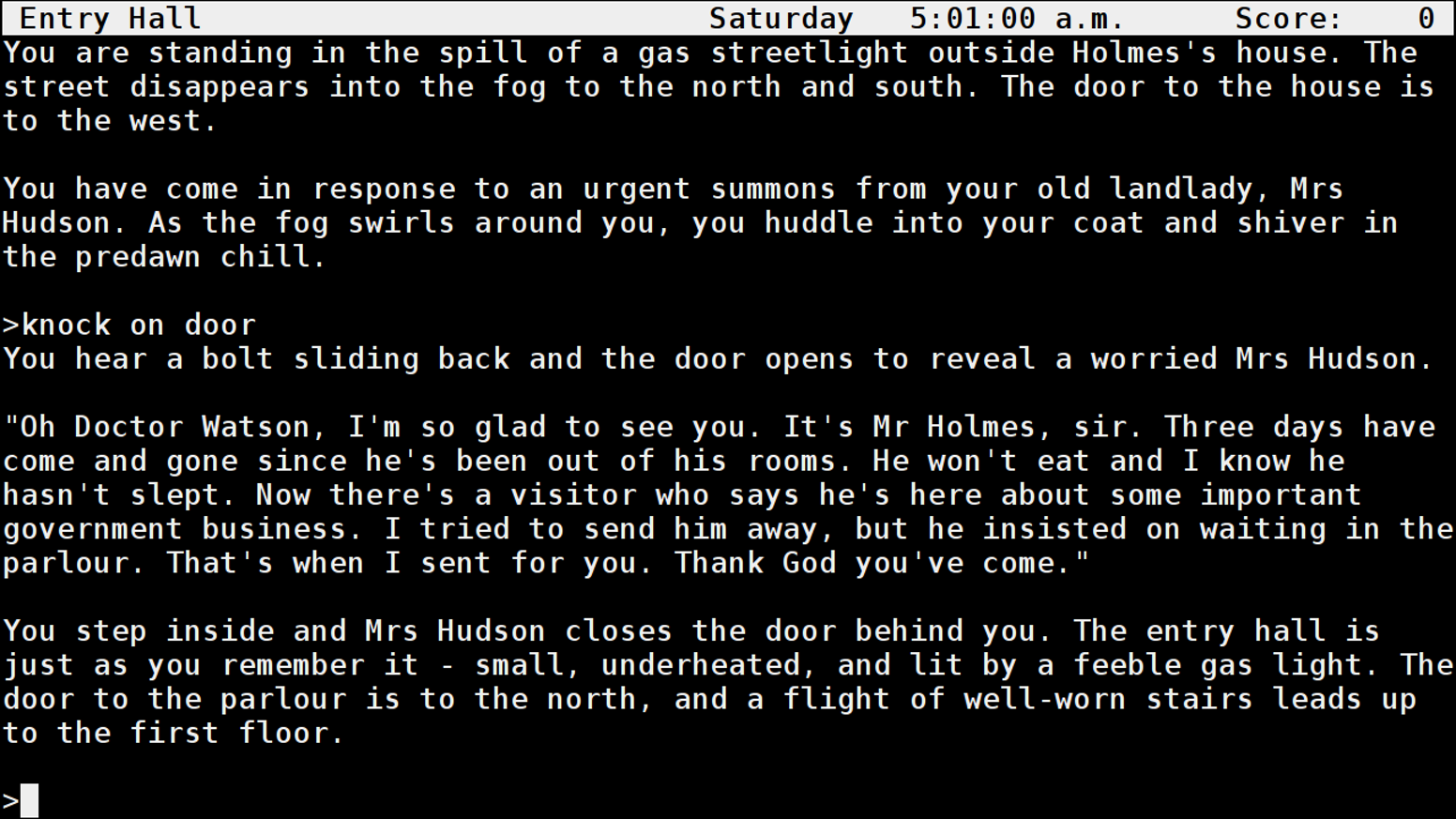 Fund development of full audio support implemented for Unix Frotz.  Frotz implements Infocom's Z-machine for playing text adventures.