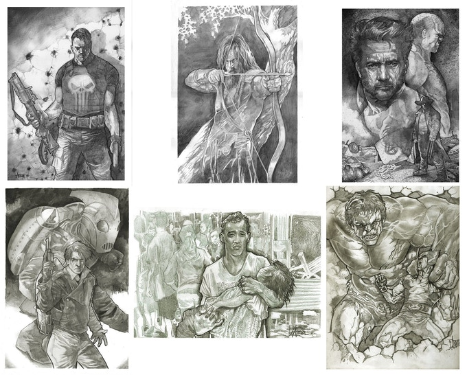 Sample Commissions by Erwin Arroza