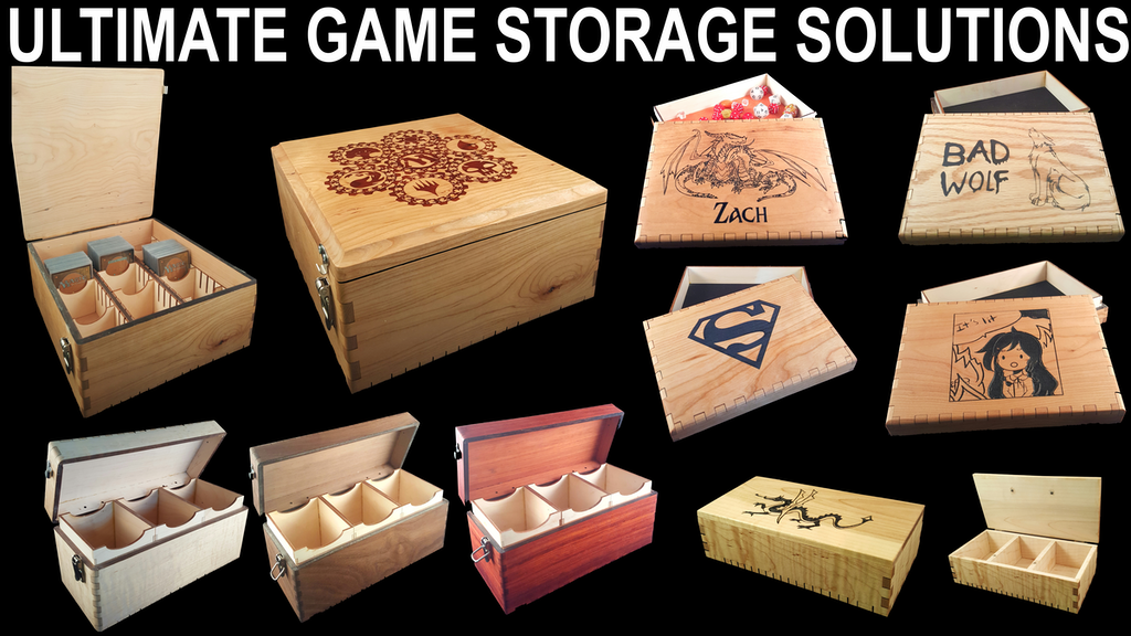 Hardwood Storage Solutions / Deck Boxes / D&D / Board Games project video thumbnail