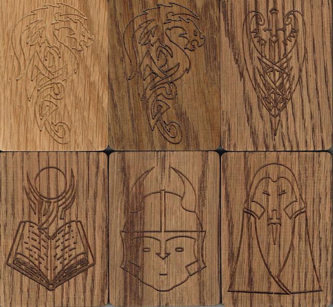 Sample Images - actual carvings in Oak