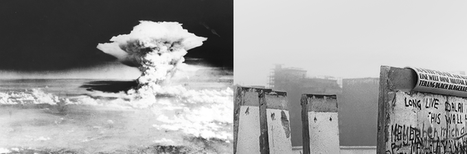 Hiroshima and Nagasaki Bombings and the fall of the Berlin Wall